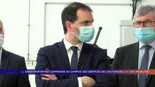 Yvelines | L. Saint-Martin fait campagne au Campus des services de l'automobile et des mobilités