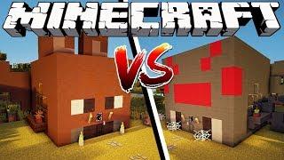 BAT HOUSE VS SPIDER HOUSE - Minecraft