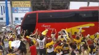 Avaí X CRICIÚMA - Ônibus do Tigre chegando na ressacada 24.11.12