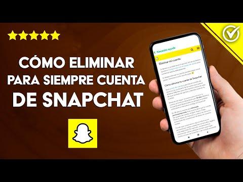 Cómo Eliminar una Cuenta de Snapchat para Siempre, Conservando los Datos