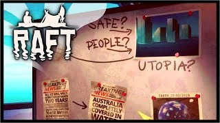DISCOVERING THE SECRET OF UTOPIA?!   Raft Survival Gameplay