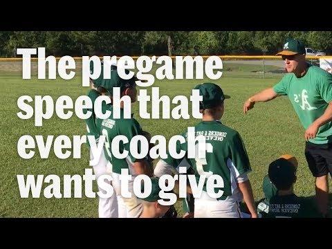 The Little League Pregame Speech To End All Baseball Speeches