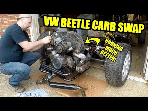 RUNNING BETTER! - VW Carburetor Swap - ROTTEN OLD 1956 VW Beetle - 81