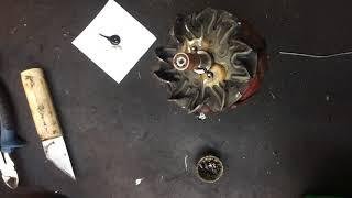 замена колец на роторе генератора Тойота