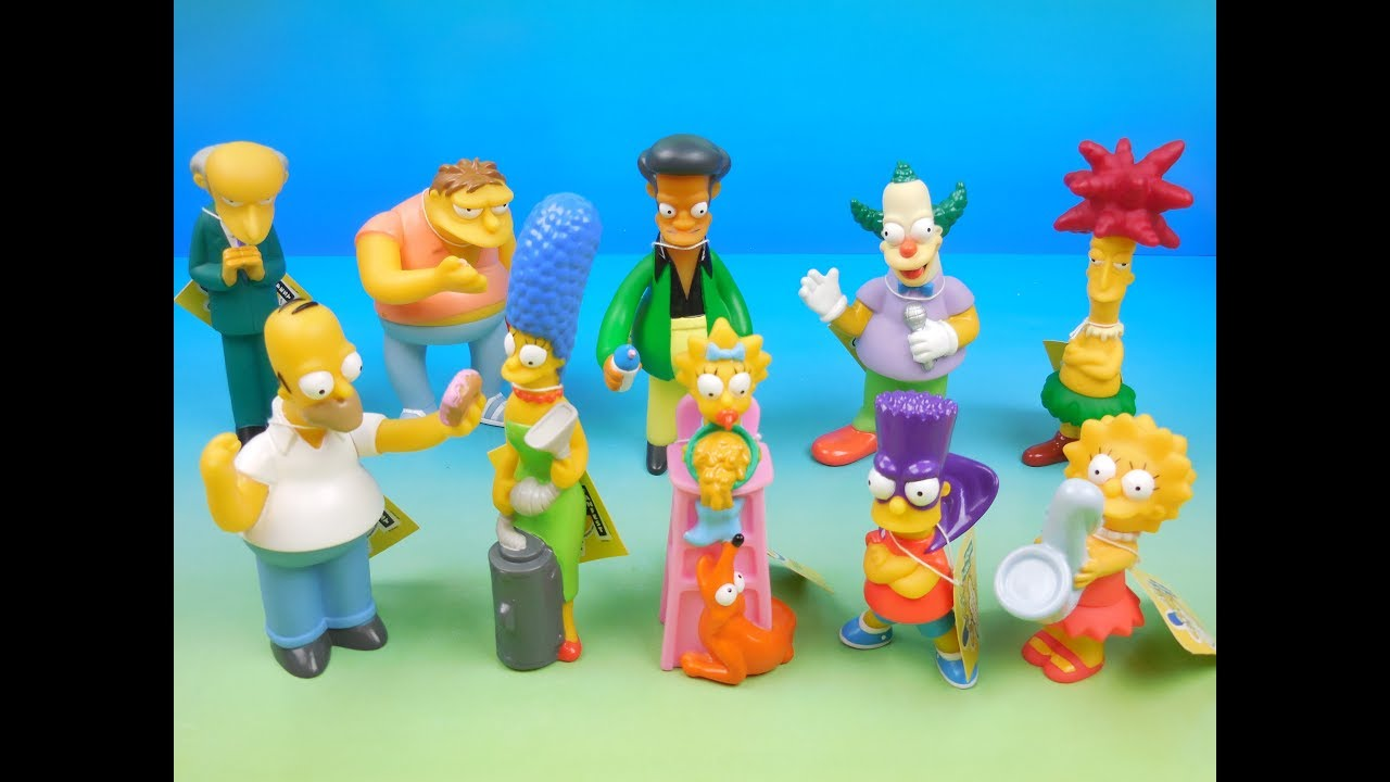 2000 The Simpsons Set Of 10 Burger King Kids Meal Toys Video Review Global Fanfest Youtube