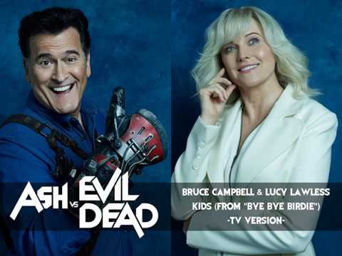 Bruce Campbell & Lucy Lawless  Kids from