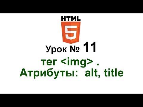 """11. Атрибуты: alt, title. Тег """"img"""". Как добавить атрибут alt к изображениям. Создание сайта с нуля"""
