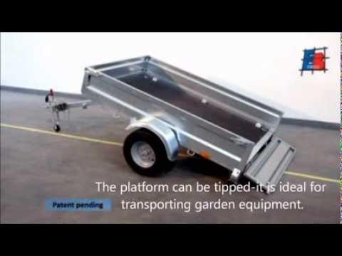 De inklapbare aanhangwagen bij Vastmans: walltrailer