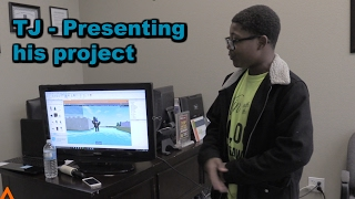TJ - Presenting his Roblox Game Project