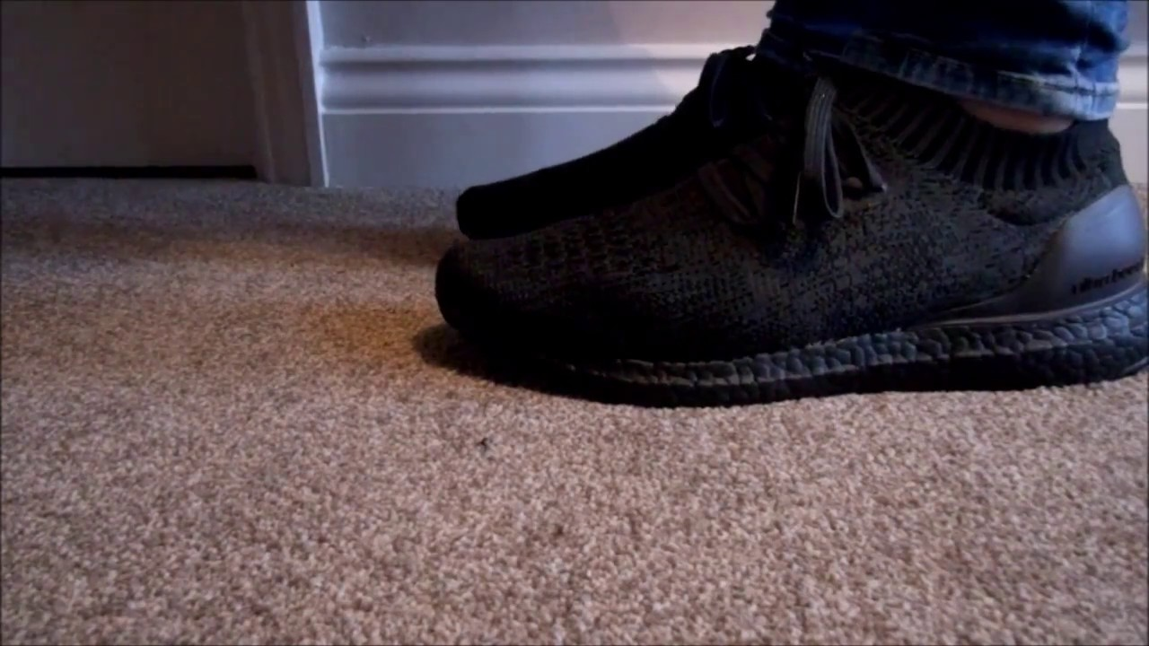 f9d49d98d2a0a5 Adidas Ultra Boost Uncaged Triple Black On Feet - YouTube