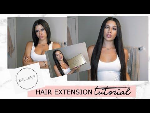 HOW TO CLIP IN + STYLE BELLAMI HAIR EXTENSIONS| Slay Tea Saturdays Ep.12| Denise.Rodri
