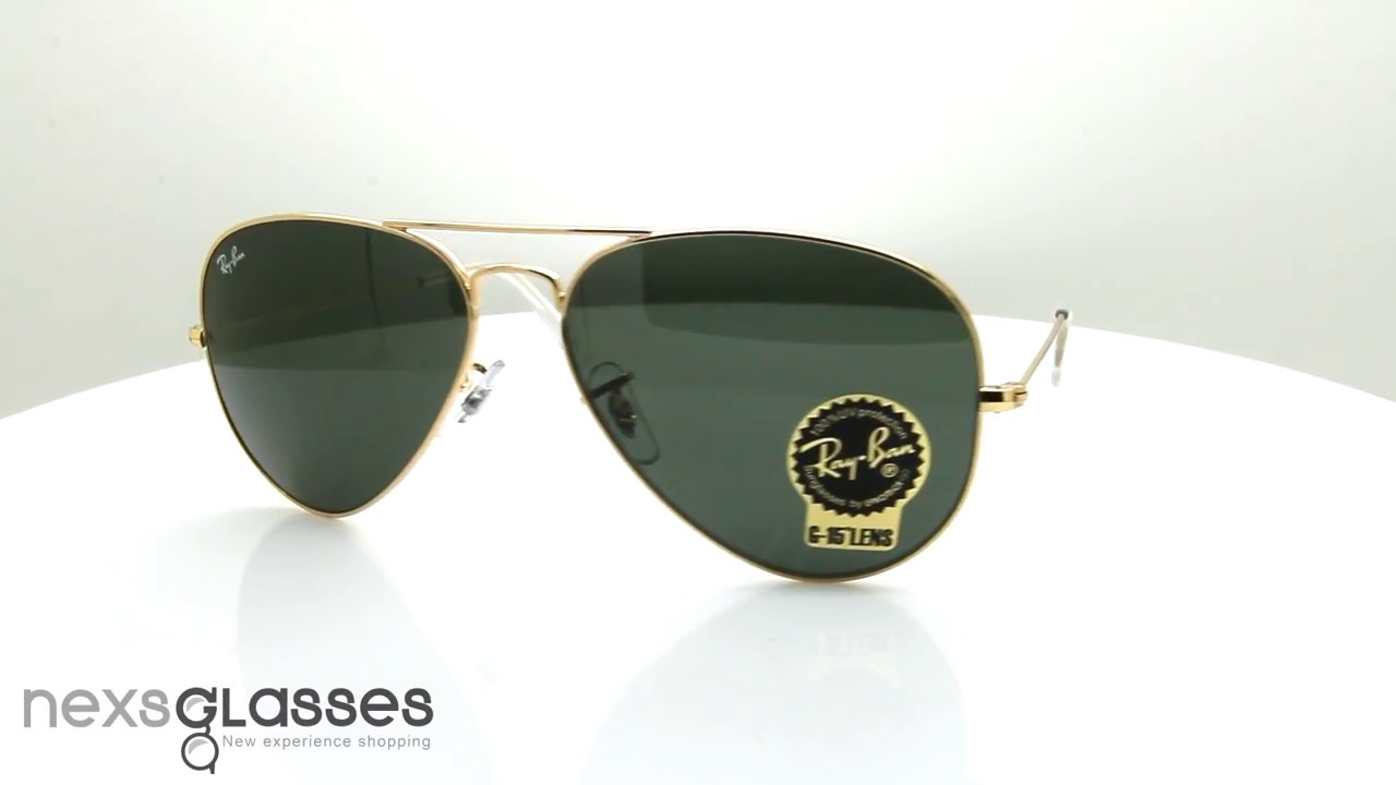 ray ban aviator rb3025 l0205  喙佮抚喙堗笝喔佮副喔權箒喔斷笖 RAY-BAN AVIATOR CLASSIC RB3025 L0205 58 - YouTube