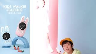 토끼 무전기 캐릭터 블루 핑크 미니 선물 장난감 세트
