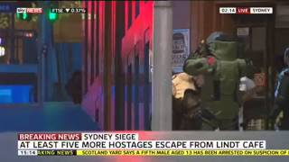 Series Of Blasts Heard At Sydney Cafe