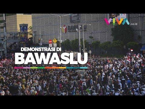 Suasana Aksi Massa Tolak Hasil Pemilu Di Bawaslu