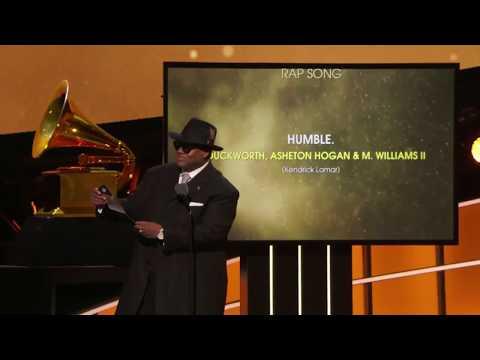 "Kendrick Lamar won Best Rap Performance & Best Rap Song for ""HUMBLE.""   60th Annual Grammy Awards"