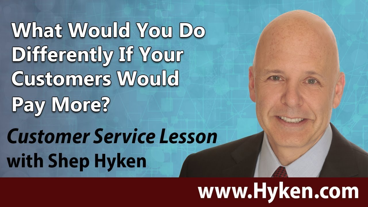 Are You So Good Your Customers Would Pay More? - YouTube