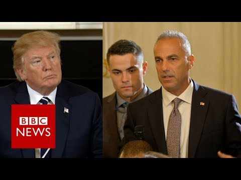 Florida victim's dad to Trump: I'm pissed – BBC News