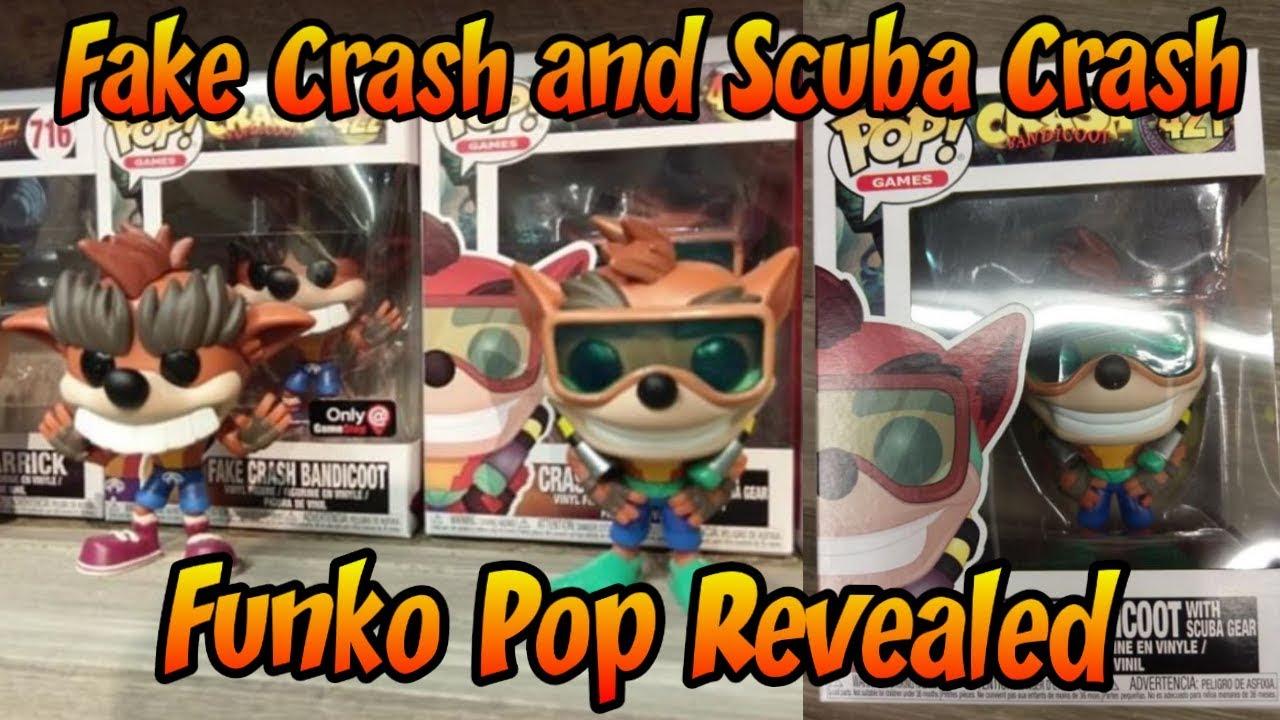 Fake Crash And Scuba Crash Funko Pops Revealed