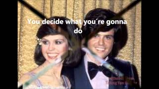 Watch Osmonds Im Leaving It All Up To You video