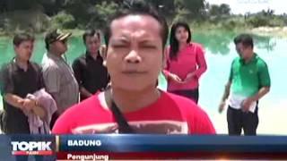 Berita hari Ini , Indahnya Danau Air Biru di Cisoka , dunia dalam berita