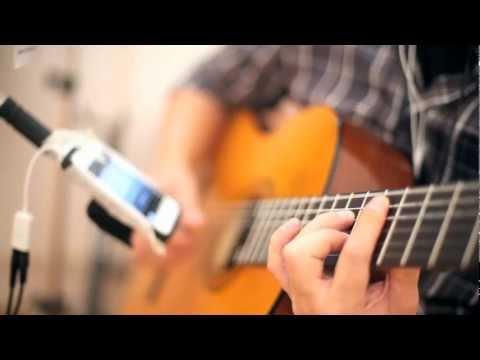 Amy Winehouse - I heard love is blind guitar cover instrumental - gravando com microfone iphone