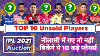 IPL 2021 - List Of 10 Big Unsold Players In IPL Auction After IPL 2020 | MY Cricket Production