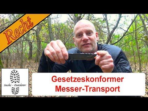 Outdoor-Recht 8 - Gesetzeskonformer Messer-Transport