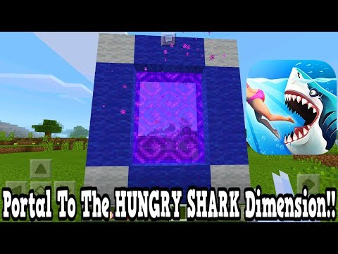 Minecraft Pe - Portal To The Hungry Shark Dimension - Mcpe Portal To The Hungry Shark Attack!!!