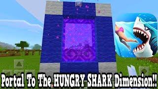 Minecraft Pe - Portal To The Hungry Shark Dimension - Mcpe Portal To The Hungry Shark Attack!!!
