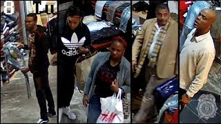 Organized shoplifting caught on camera at Vengeance