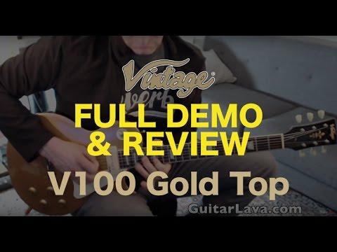 vintage v100gt electric guitar full demo and review vintage brand guitars youtube. Black Bedroom Furniture Sets. Home Design Ideas