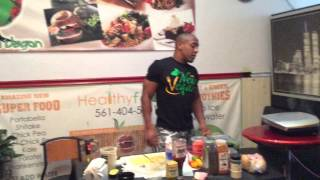 "Korin Sutton's Smash Burger ""new Vegan Chick Pea Mix"" Walk Through Edition"