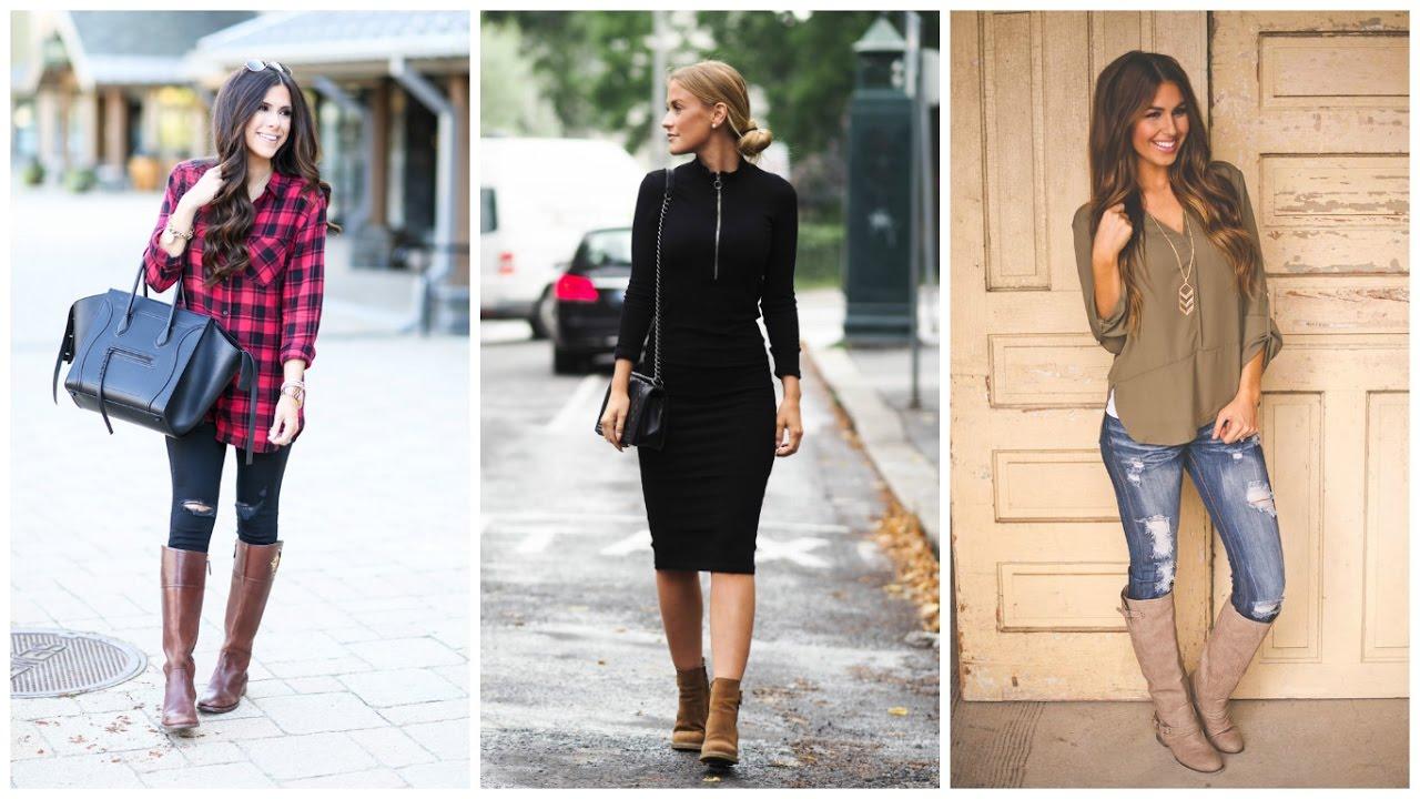 Botas de oto o outfits de moda 2017 oto o invierno for Moda de otono 2017