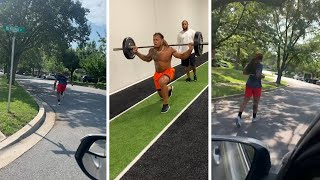 Chase Young INTENSE Run With Truck Behind Him, Ready For Rookie Season