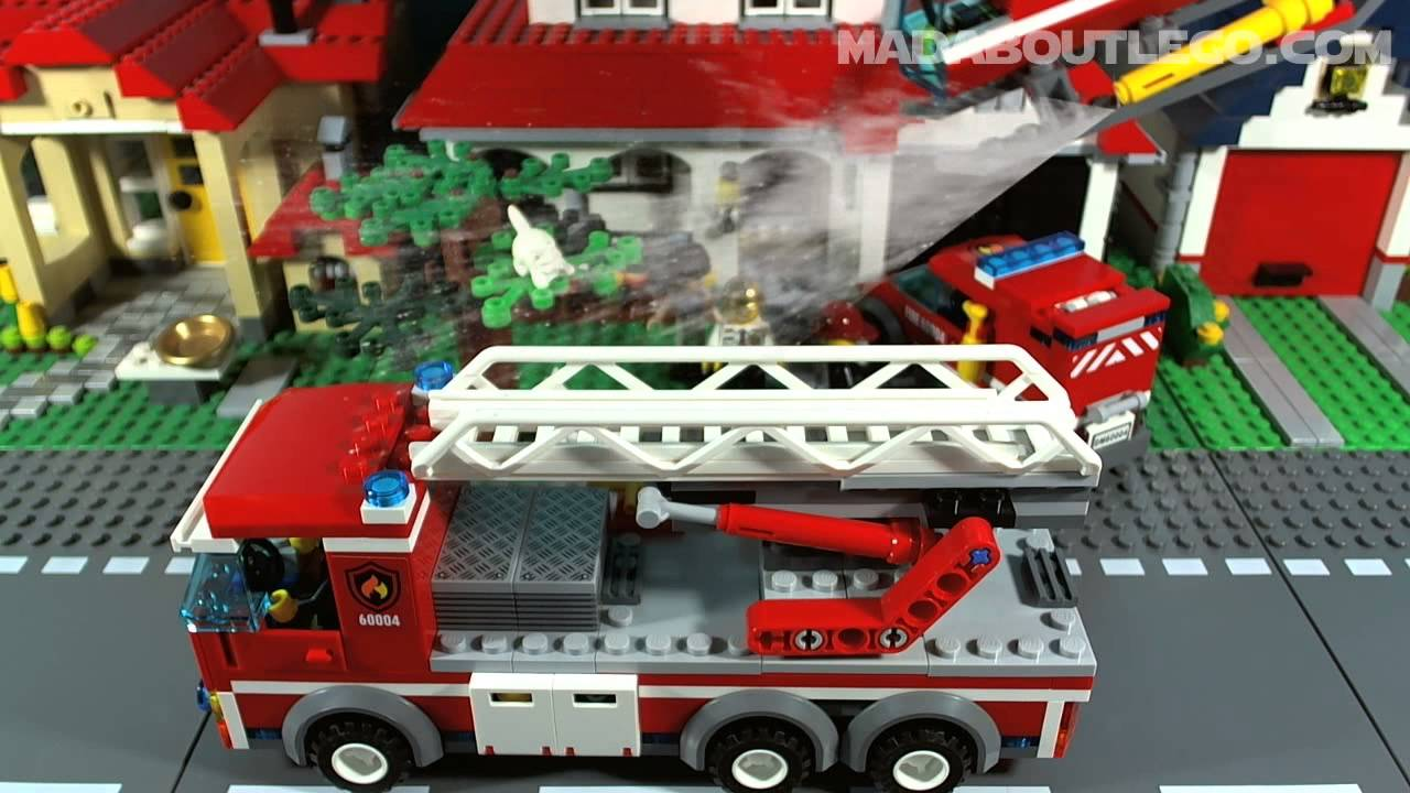 Lego City Fire Station 60004 Youtube