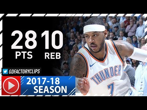 Carmelo Anthony Full Highlights vs Pacers (2017.10.25) - 28 Pts, 10 Reb