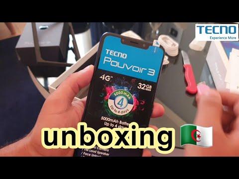 Tecno mobile pouvoir 3 unboxing تكنو موبايل الجزائر