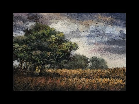 Summer Meadow 3½x5 Time-lapse Painting Demonstration