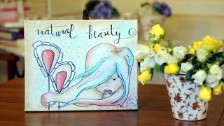Pintar cuadros - Pintar sobre Bastidor - Pincel Seco - Humedo sobre Humedo Paula Blanco