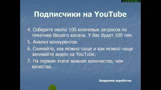 Реальные подписчики на YouTube