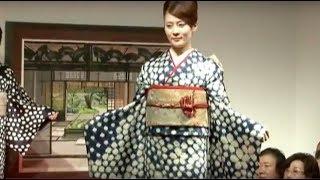 Indigo dyeing kimono fashion show. 6月21日(木)に行われた「SIBORI...