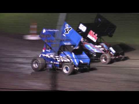 close call at gas city speedway lightning sprints