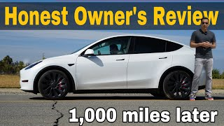 2021 TESLA MODEL Y OWNER's Review. 1000 miles later #Tesla