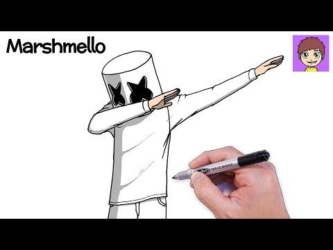 como-dibujar-a-marshmello-dabbing-paso-a-paso---dibujos-para-dibujar-dibujos-faciles