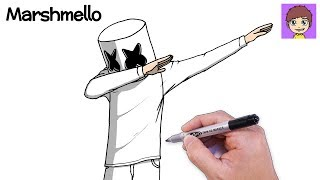 Download Como Dibujar A Marshmello Y Alan Walker Paso A Paso Dibujos