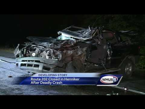 Route 202 closed in Henniker after deadly crash - YouTube