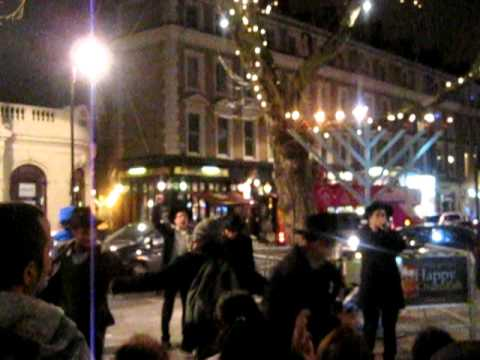 Public Menorah lighting - Chabad Kensington ,London