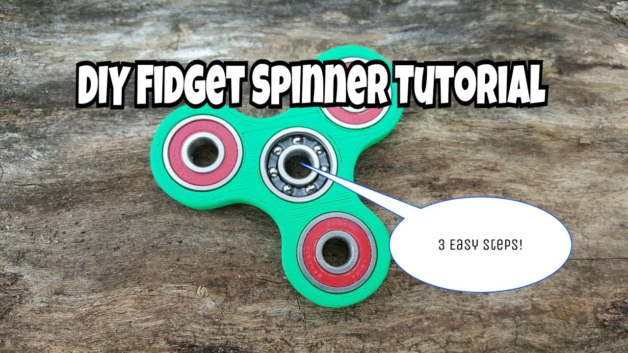 how to make your own fidget spinner with 3 easy steps youtube