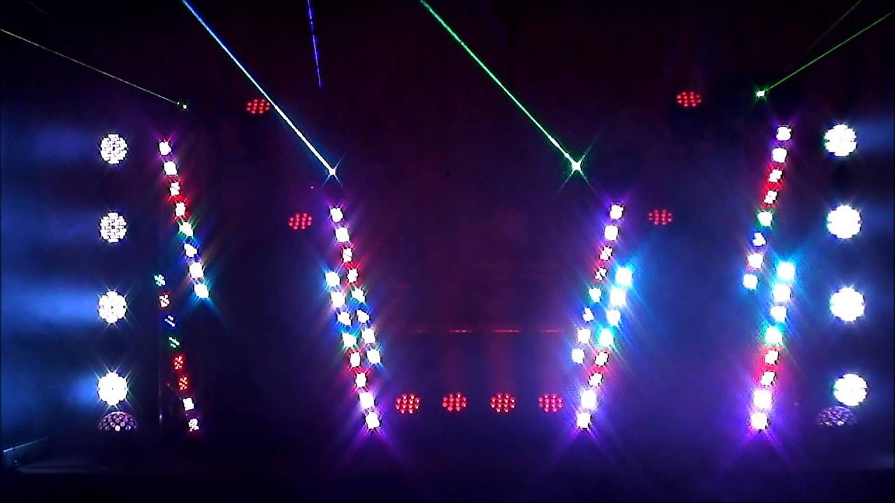 practica para el show de dj frost efectos de lasers y luces por mi hija de aos